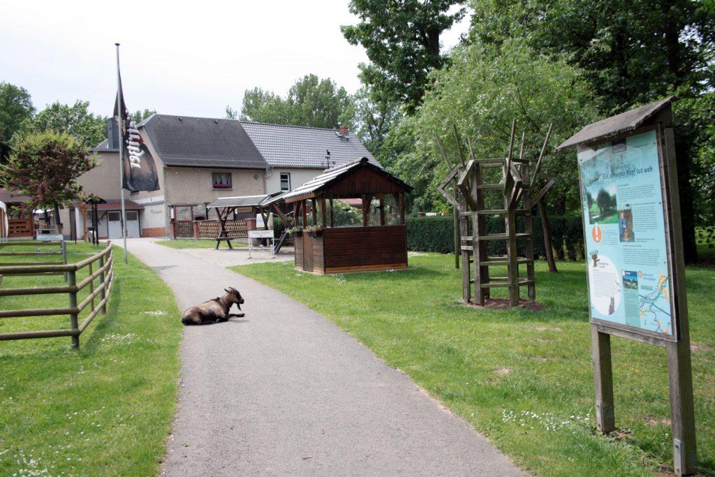 Der Imbiss zur Rothenmühle liegt auf halber Strecke zwischen Posterstein und Nöbdenitz am Sprotte-Erlebnis-Pfad.