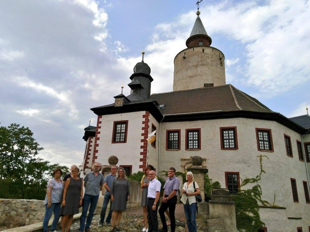 Die Thüringer Sozialministerin Heike Werner besuchte am 8. August 2018 Posterstein.