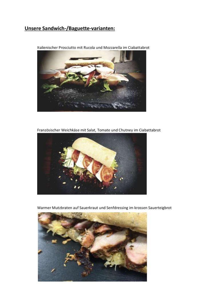Picknick auf dem Burgberg Posterstein - verschiedene Sandwiches